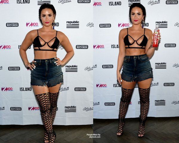 "Demi Lovato sexy pendant la Pool Party de Z100 au Gansevoort Park Avenue. Demi a interpreter son nouveau single ""Cool For the Summer"" (mercredi après-midi (1 Juillet) à New York.)"