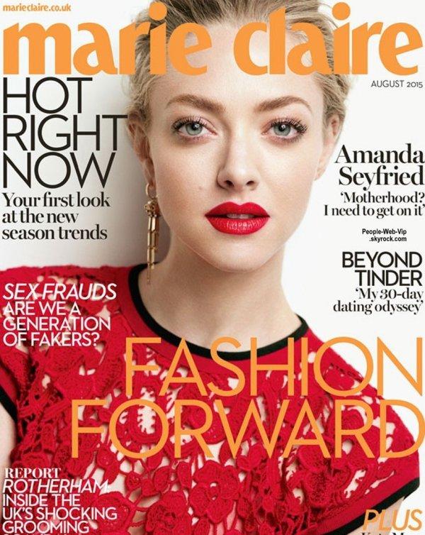 """Amanda Seyfried pose pour le magazine """" Marie Claire """" Qu'en pensez vous ?"""
