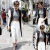 Lily Collins a été aperçue quittant son hotel parisien. Elle est actuelmlement à Paris pour la Paris Fashion Week Haute Couture Automne / Hiver 2015/2016 (jeudi après-midi (Juillet 9) à Paris, France.)