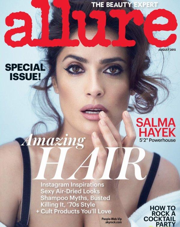 """Salma Hayek pose pour le magazine """" Allure """"  Qu'en pensez vous ?"""