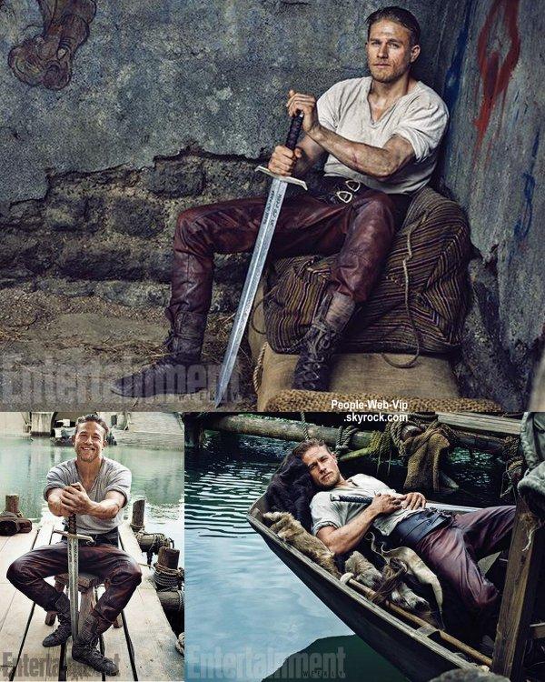 King Arthur sera le prochain film de Guy Ritchie. Aujourd'hui, Entertainment Weekly dévoile les premières photos de Charlie Hunnam, le Roi Arthur et bien evidement ce sont les premières images officielles de l'acteur britannique dans son rôle. King Arthur sortira dans les salles en août 2016.