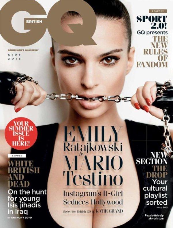 """EMILY RATAJKOWSKI Pose pour le magazine""""  GQ """" a paraître pour septembre 2015. On aime ?"""