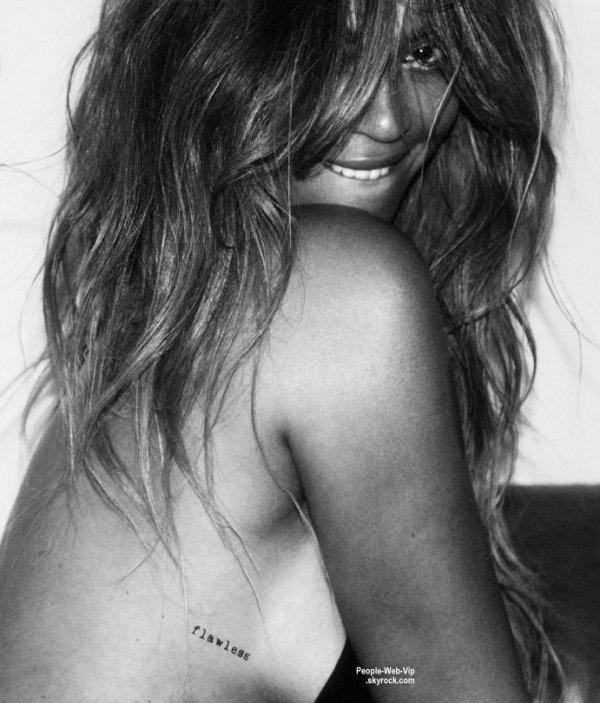 """Beyonce prend la pose dans ces nouvelles photos pour """"CR Fashion Book."""" Queen Bee s'est associée avec la marque de tatouage Flash Tattoos, pour lancer sa collection de tatouages éphémères ! On aime?"""