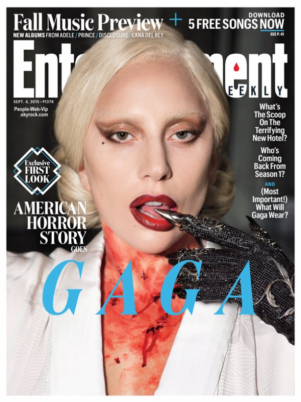 "Lady Gaga prend la pose du magazine "" Entertainment Weekly's : American Horror Story: Hotel issue. "" Qu'en pensez vous?"