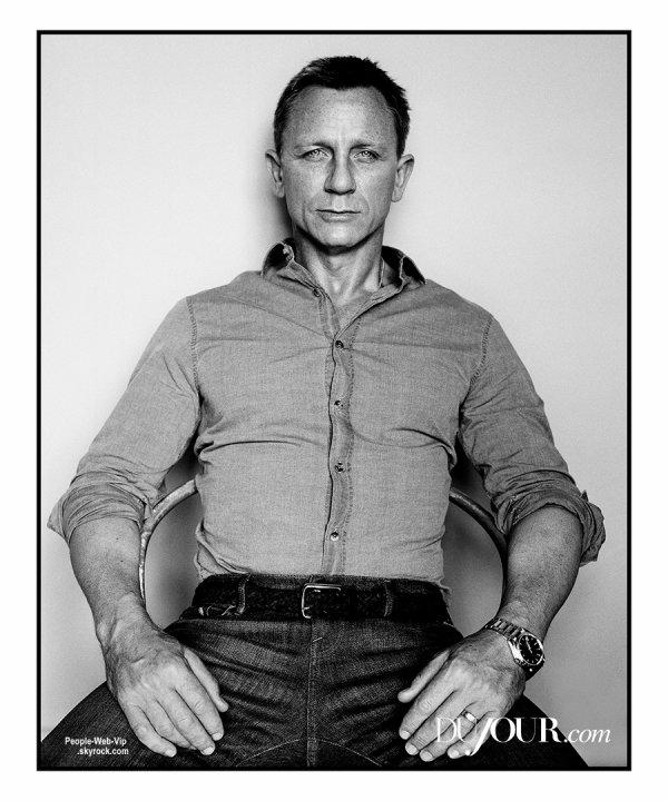 """Daniel Craig prend la pose pour le magazine """" DuJour"""" Qu'en pensez vous?"""