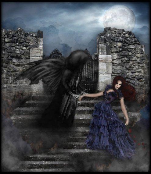 l ange noir vien chercher mon ange humaine  por devenir imortelle est que j haire toute une eternite hihihihihi