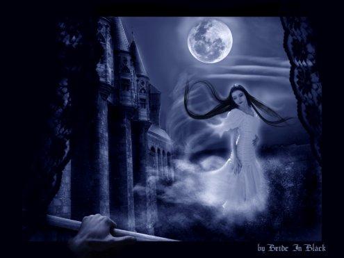 sou la plaine lune les yeux de mon vampire me regarde emerveille de douceur