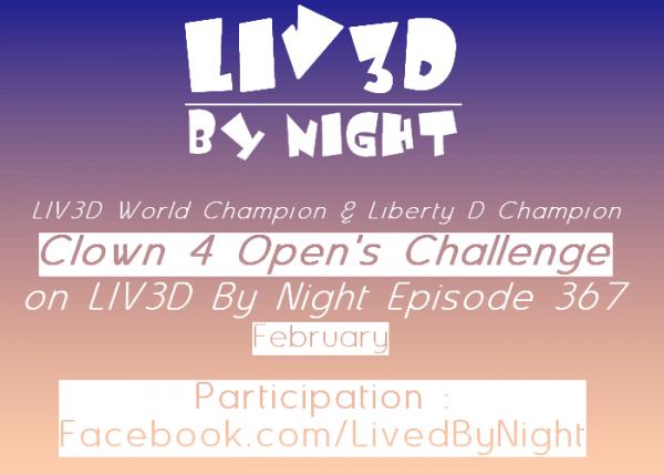 #LIV3DByNight : Clown 4 vous offres un contrat de 10 matchs si vous arrivez à le battre !