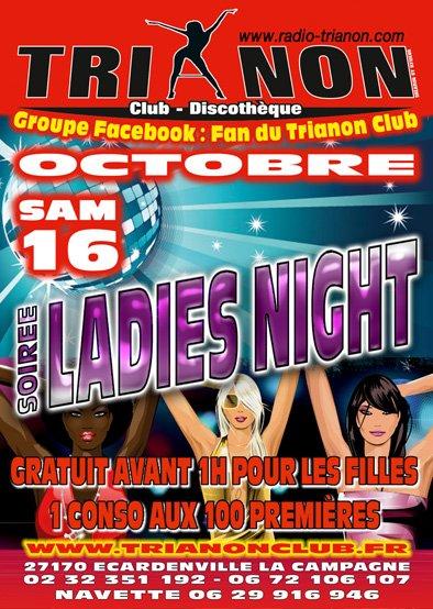 Samedi 16 Octobre soirée LADIES NIGHT, Gratuit pour les filles Av 1h et 1 Cocktail au 100ères Filles Offert
