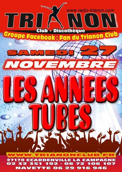 Samedi 27 Déc Soirée les Année TUBE, ambiance de Folie assuré !