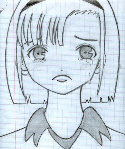Fille Qui Pleure Blog De Mangas Drawing94
