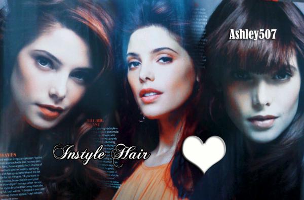 Ashley Greene en couverture de Instyle Hair