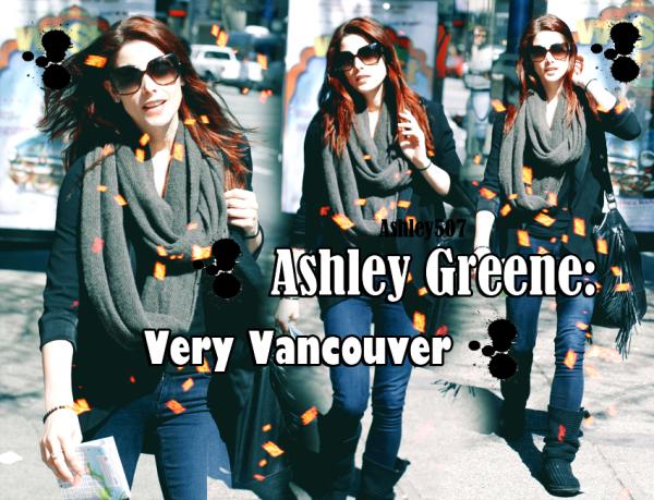 ♥ 22.04.2011 Prenant une pause de la «Breaking Dawn» ensemble, Ashley Greene était à la fois les points et sur de Vancouver , au Canada hier. Ashley avait des courses à faire, et regarda d'un appareil photo peu timide quand elle a remarqué paparazzi à proximité.♥