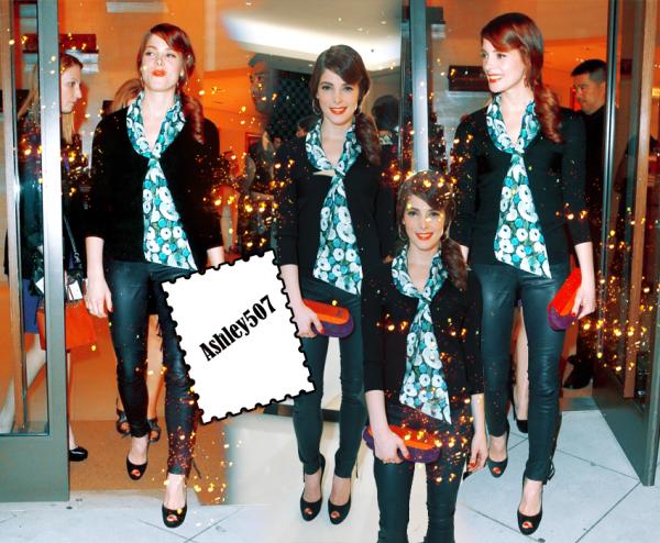 ♥ 27.04.2011 C'est toujours un tirage de célébrités , et le 25 avril Ashley Greene a été repéré au magasin Louis Vuitton aperçu à Beverly Hills, CA.Alors pour moi c'est un super TOP. TOP OU FLOP ? ♥