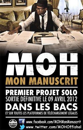 FLASH INFO ALBUM MON MANUSCRIT LE 09/04/12 DANS LES BACS