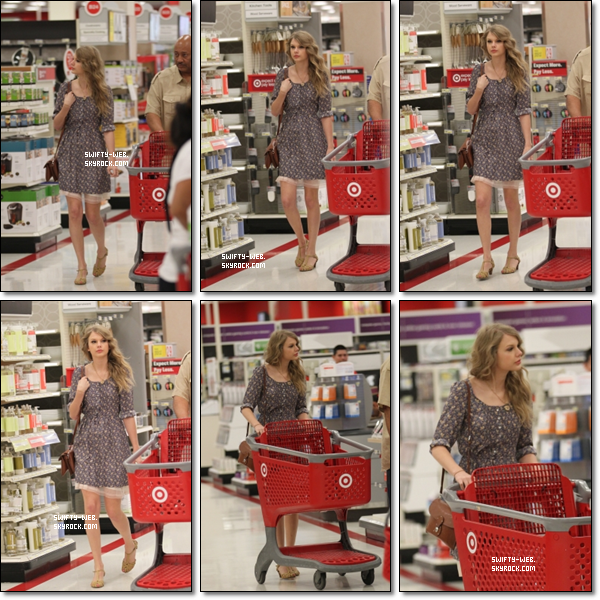 Taylor a été vue faisant du shopping à Anthropologie à Beverly Hills, California et à Target en West Hollywood hier matin. Côté tenue, c'est un bof !