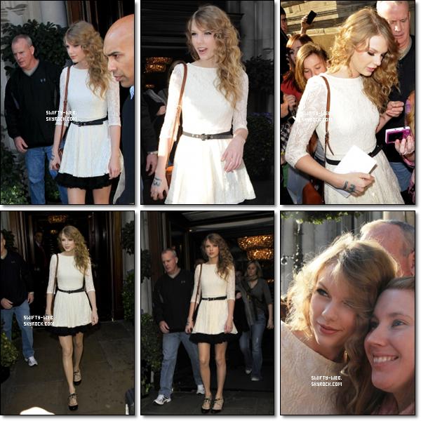 Le 22 mars (le jour de mon anniversaire :P ), Taylor a été vue retournant à son hôtel à Birmingham. Pour son look, je lui accorde un top ! =)