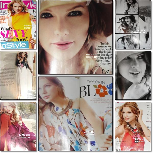 """Taylor Swift fait la couverture du magazine """"InStyle"""" de juin 2011 ! Le photoshoot a l'air magnifique, et Taylor fait beaucoup plus mature ! Voici les scans :"""