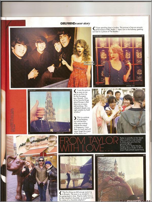 """Voici de nouveaux scans provenant du magazine """"Girlfriend"""" dont Taylor fait la couverture !"""