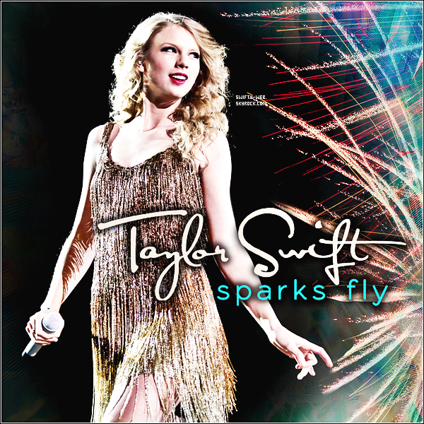 """Découvrez la pochette de """"Sparks Fly"""" qui sera le prochain single de Taylor Swift !"""