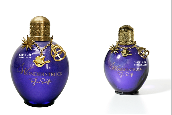 "15.07.11 Taylor annonce le nom de son nouveau parfum ! Il s'appellera ""Wonderstruck"", qui a été tiré de la chanson Enchanted : ""I'm wonderstruck, blushing all the way home"" ! Alors, excitée ? :D"