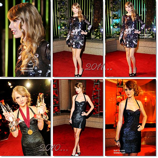 """Le 8 novembre, Taylor était presente aux  59th Annual BMI Country Awards à Nashville. Elle a reçu des prix pour ses chansons """"Mine"""", """"Back To December"""" & """"Fearless"""" ! Bravo à elle ! <3"""