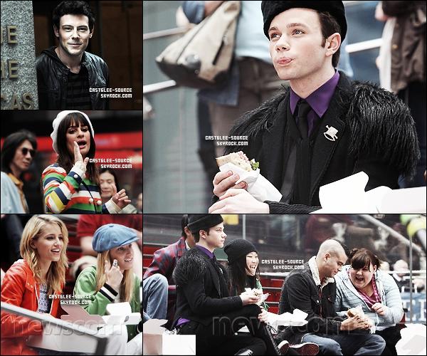 25/04/2011 | Le cast à été vu à New York afin de tourner un des derniers épisodes de la saison 2 . 25/04/2011 |Pour des raisons inconnues , Amber et Naya n'étaient pas présentent .