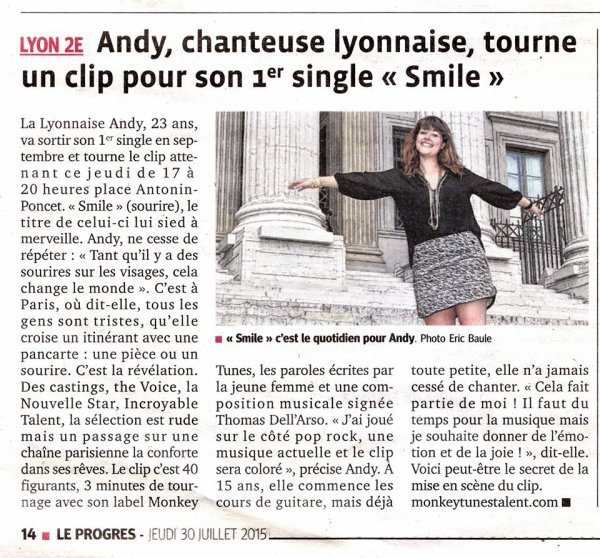 "Tournage du clip ""Smile"", 1er single d'Andy, à Lyon / EXTRAIT ""SMILE"" / ZOO DE VINCENNES"
