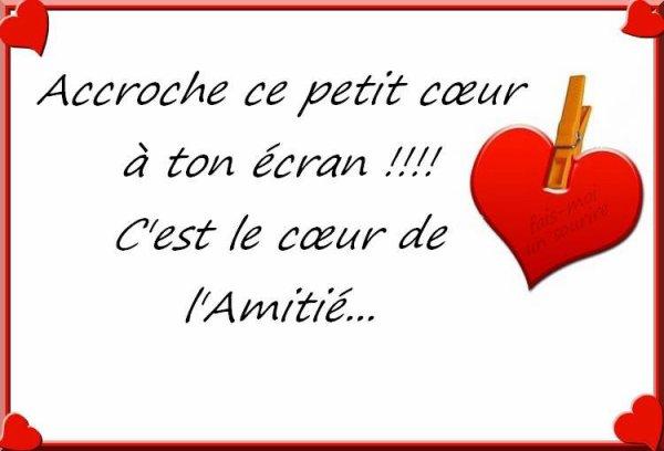J'ACCROCHE.   MON  COEUR♥♥