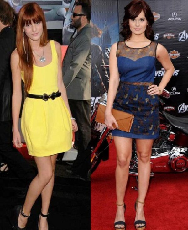 Bella Thorne : Debby Ryan, un match de look sur tapis rouge