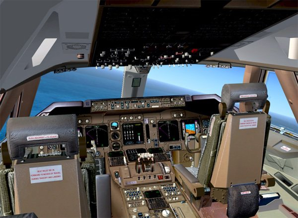 Cockpit sur flight simulator x(fsx)