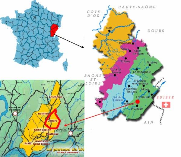 Situation géographique de CUTTURA