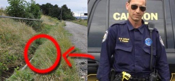 DES POLICIERS TROUVENT UNE CAGE DANS UN FOSSÉ…MAIS ATTENDEZ DE DÉCOUVRIR CE QU'ELLE CONTIENT…CELA VOUS FENDRA LE C¼UR!