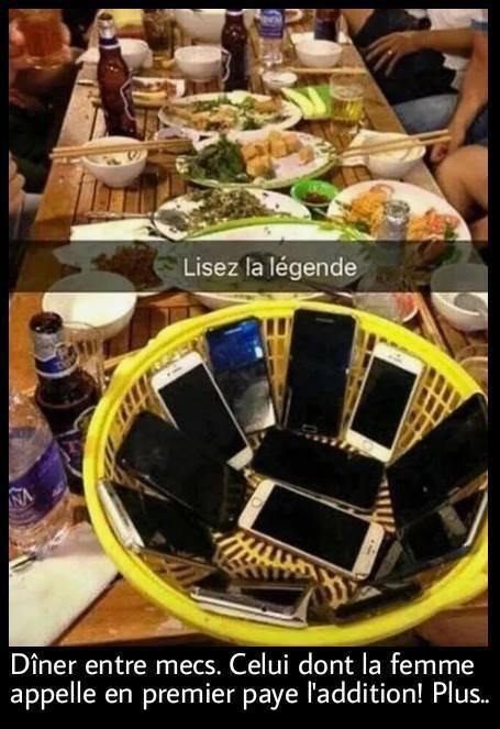 Un dîner entre copains