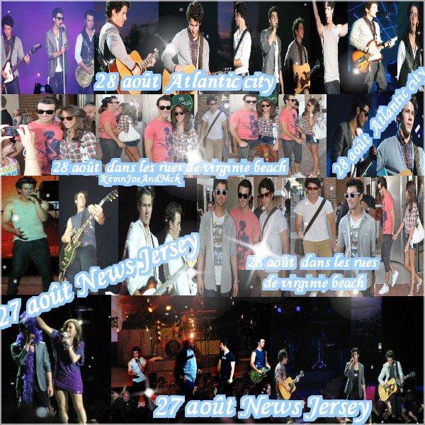 ◘ 27 août : Concert New Jersey ◘  28 août : dans les rues de Virginie beach ◘  28 août : Concert Atlantic City ◘