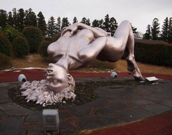 A Sculpture in Jeju Loveland, South Korea