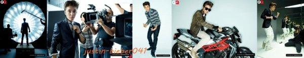 Voici les photo du shoot de Justin pour le magasine GQ .