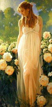 la jeune fille et les fleurs