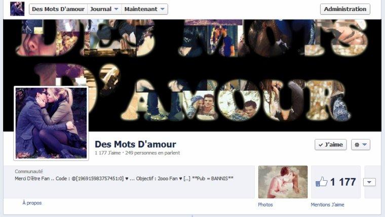 ♥ ◕☆。★ Page Facebook Pour les Amoureux ★。☆◕ ♥