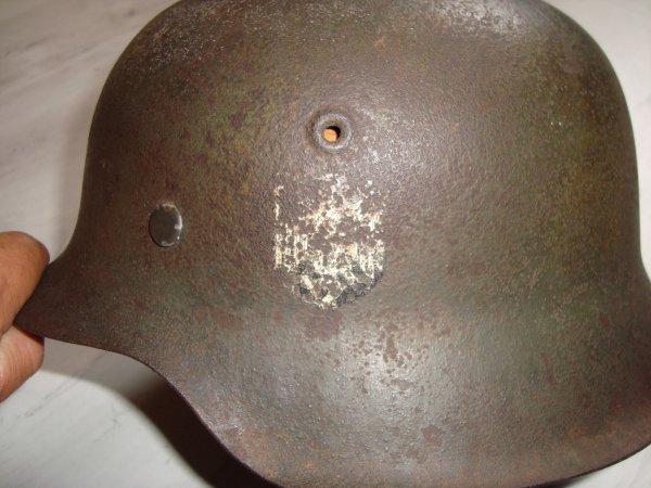 casque allemand un insigne