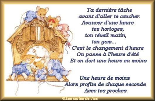 CHANGEMENT  d' HEURE : Pffffff