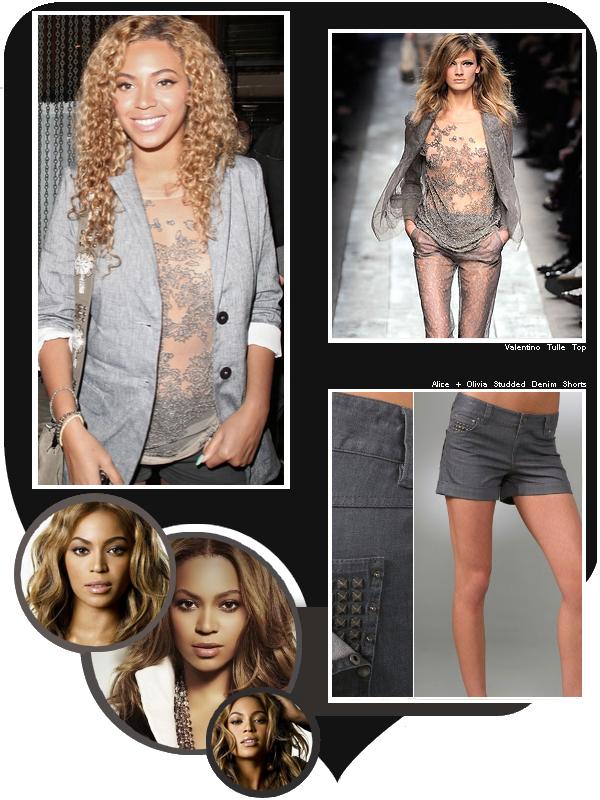 Le 8 juin 2010, Beyoncé à la sortie du restaurant branché Mr Chow