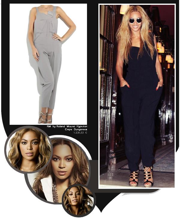 Beyoncé sortant du restaurant Costes