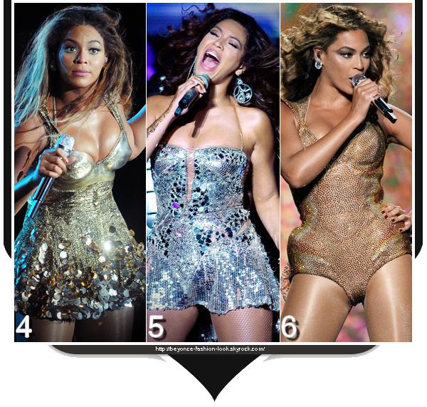 Les tenues de scène de Beyoncé