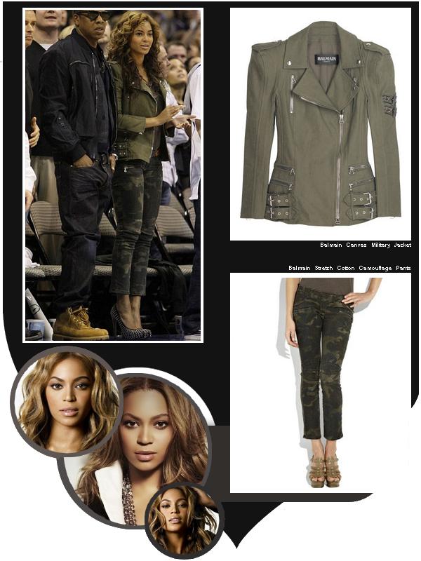 Le 23 février 2010, Beyoncé était aperçu à un match de basketball