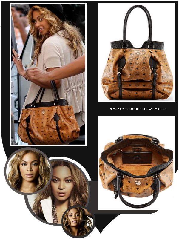 Le 11 Septembre 2010, Beyoncé portait un sac des créations MCM