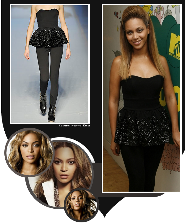 Beyoncé dans les studios de la chaine MTV