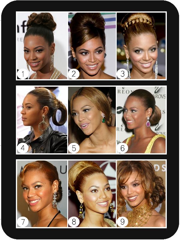 Des chignons de toute beauté pour Beyonce