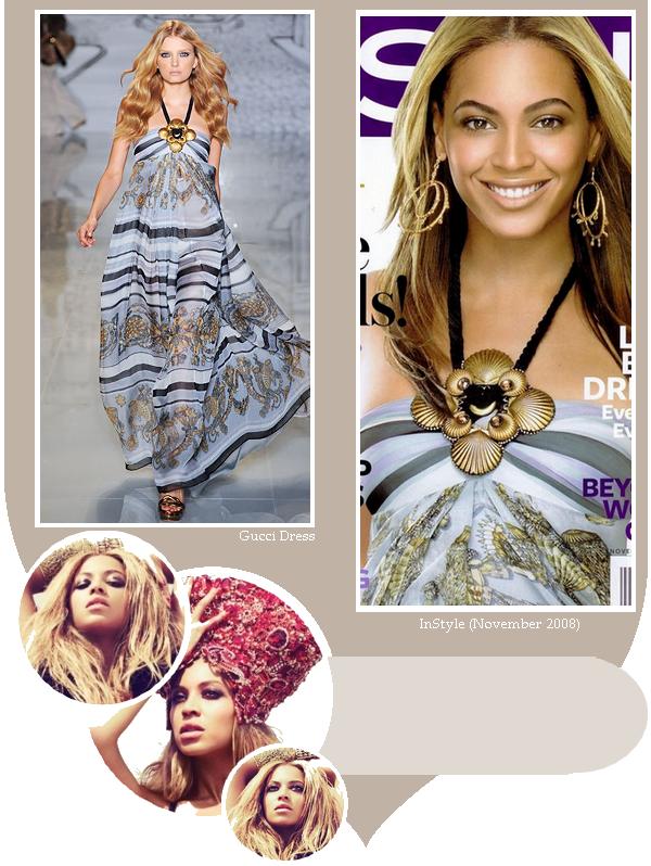 Beyoncé en couverture du magazine InStyle en 2008
