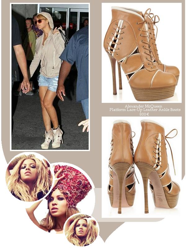 le 18 juin 2011, Beyoncé portait des boots Alexander McQueen à 800¤